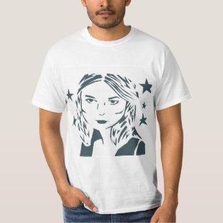 Camisa da mulher da arte da rua