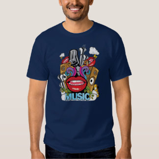 Camisa da música camiseta