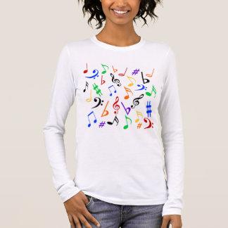 Camisa da música das notas musicais