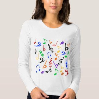 Camisa da música das notas musicais t-shirts