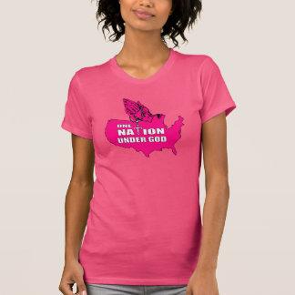 Camisa da nação das mulheres uma t-shirt