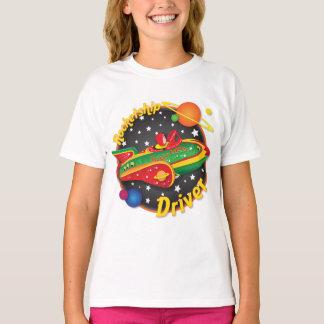 Camisa da nave espacial T do motorista de
