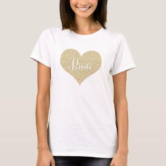 Camisa da noiva do brilho do ouro