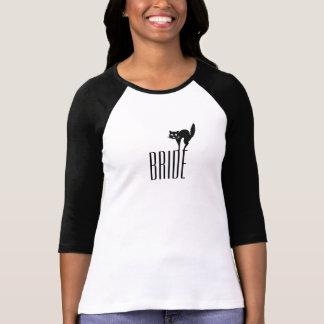Camisa da noiva do Dia das Bruxas - gato preto