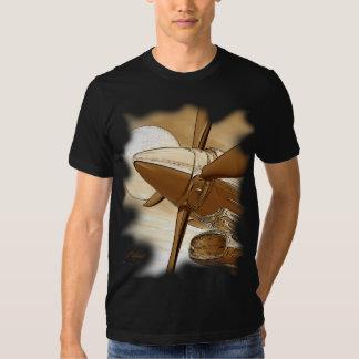 Camisa da obscuridade do Sepia do olhar do vintage Tshirt