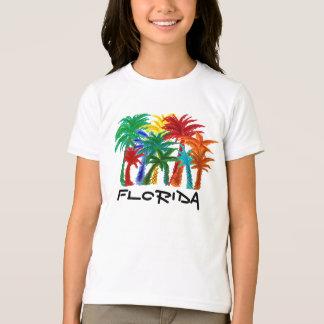 Camisa da palmeira das meninas de Florida