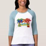 Camisa da palmeira do Havaí das mulheres Camiseta