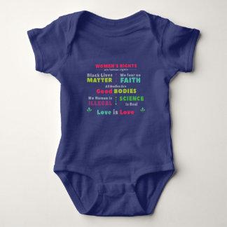 Camisa da parte inferior da pressão do bebê da