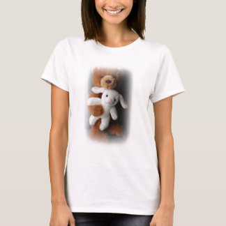 Camisa da páscoa do coelho e do urso