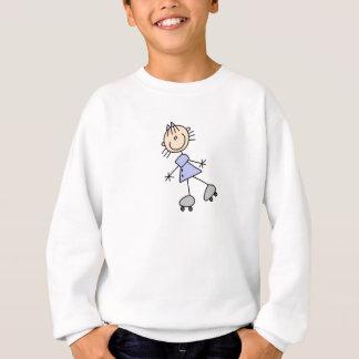 Camisa da patinagem de rolo da menina da vara
