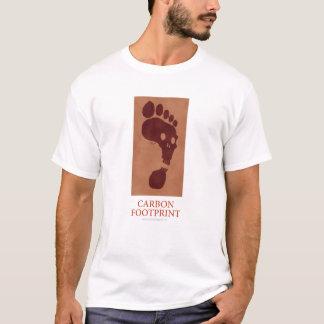 Camisa da pegada do carbono