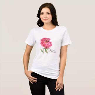 Camisa da peônia do presente do dia das mães