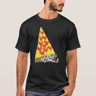 Camisa da pizza do triângulo amoroso
