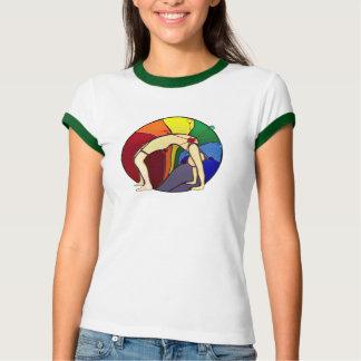 Camisa da pose T da roda