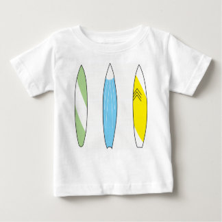 Camisa da prancha do verde amarelo e do azul