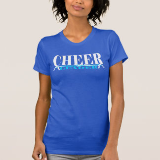 Camisa da prática do cheerleader em branco e em