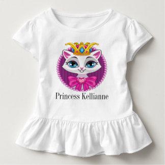 Camisa da princesa Gatinho Pequeno da diva com
