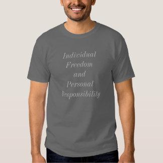 Camisa da responsabilidade pessoal de liberdade camiseta