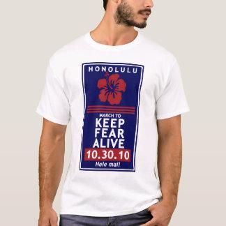 Camisa da reunião de Havaí - mantenha o medo vivo