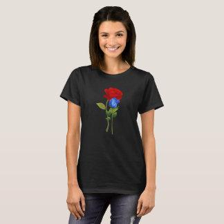 Camisa da rosa vermelha do azul 2