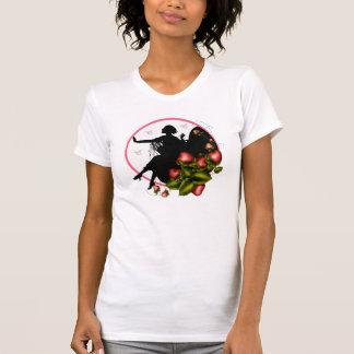 Camisa da silhueta T da morango para senhoras