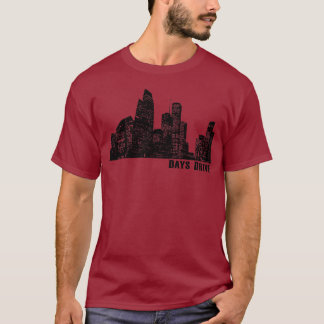 Camisa da skyline de Houston
