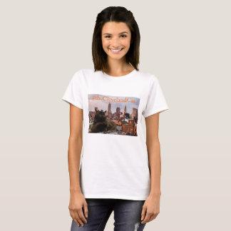 Camisa da skyline do gato de Cleveland