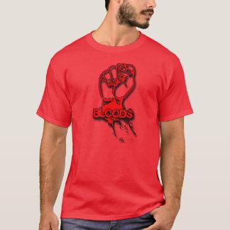 camisa da sombra do punho dos sangues