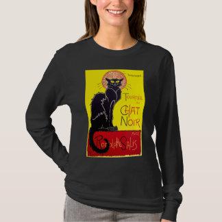 Camisa da taberna T do vintage do gato preto de Le