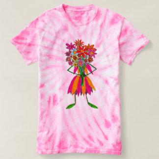 Camisa da tintura T do laço da flor