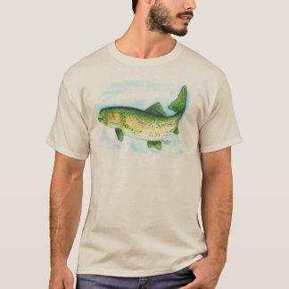 Camisa da truta de arco-íris da aguarela