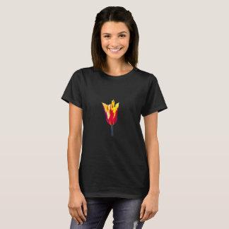 Camisa da tulipa T da língua da chama