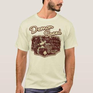 Camisa da velocidade do demónio do vintage