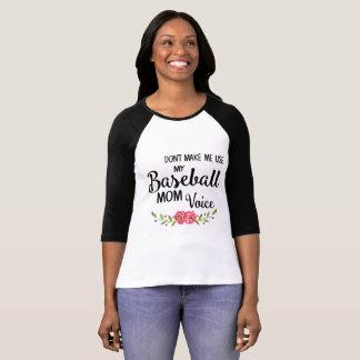Camisa da voz da mamã do basebol
