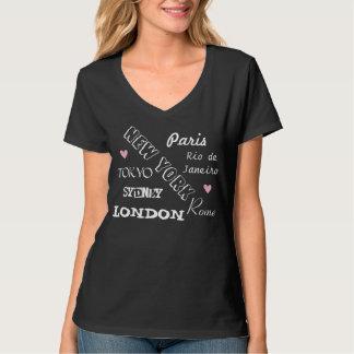 Camisa das cidades T do mundo