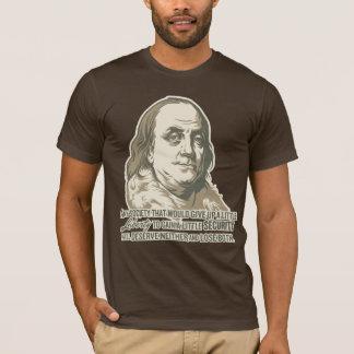 Camisa das citações de Ben Franklin
