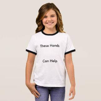 Camisa das mãos amiga