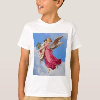 Camisa das meninas do anjo-da-guarda e da criança