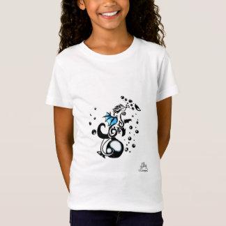Camisa das meninas do dragão do tatuagem da bolha