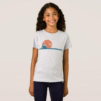 Camisa das meninas do estilo do vintage da praia