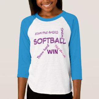 Camisa das meninas do softball