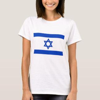 Camisa das mulheres T com a bandeira de Israel
