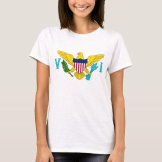 Camisa das mulheres T com a bandeira de Virgin