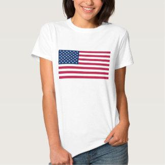Camisa das mulheres T com a bandeira dos EUA Tshirts