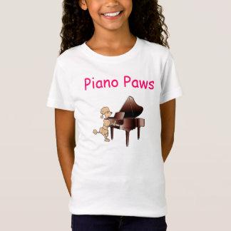 Camisa das patas do piano do pianista da caniche