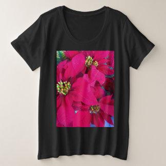 Camisa das poinsétias das mulheres