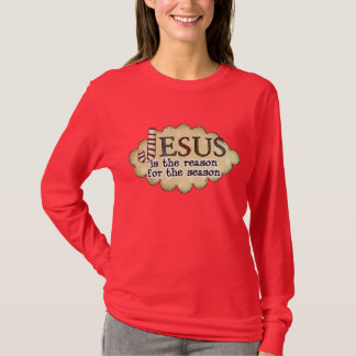Camisa das senhoras da estação da razão de Jesus