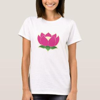 Camisa das senhoras da flor de Lotus