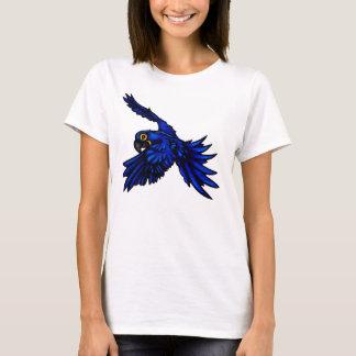 Camisa das senhoras do Macaw do jacinto