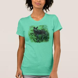 Camisa das senhoras do Okapi da selva